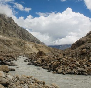 Chandra river in Lahaul