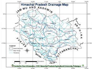Himachal Pradesh Drainage Map