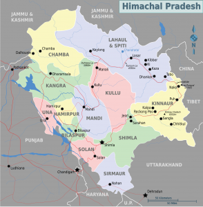 Map of Himachal Pradesh