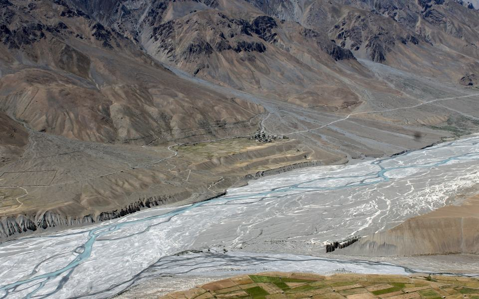 Spiti river near Kaza