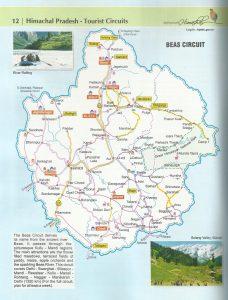 Beas Circuit Tourist Map