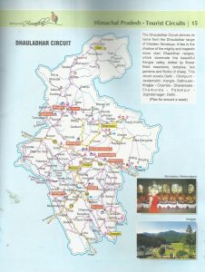 Dhauladhar Circuit Tourist Map