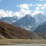 Chandra river flowing through Lahaul