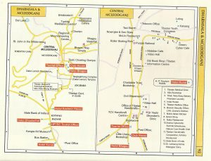 Tourist Map Dharmsala and Mcleodganj