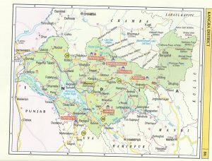Tourist Map Kangra