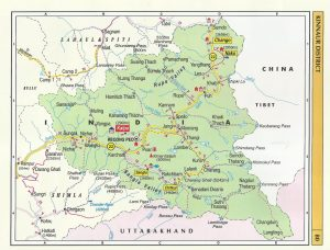Tourist Map Kinnaur