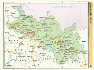 Tourist Map Lahaul Spiti