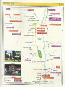 Tourist Map Manali City