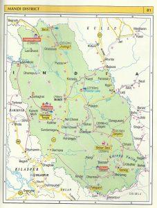 Tourist Map Mandi
