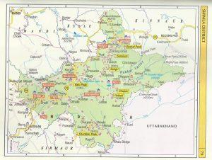 Tourist Map Shimla