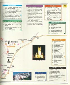 Tourist Map Shimla city 2