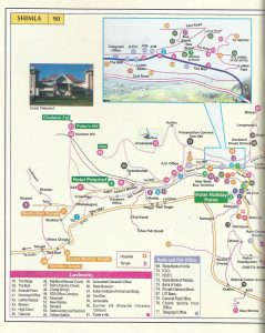 Tourist Map Shimla ciy 1