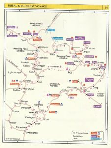 Tourist Map Tribal and Buddhist Journey