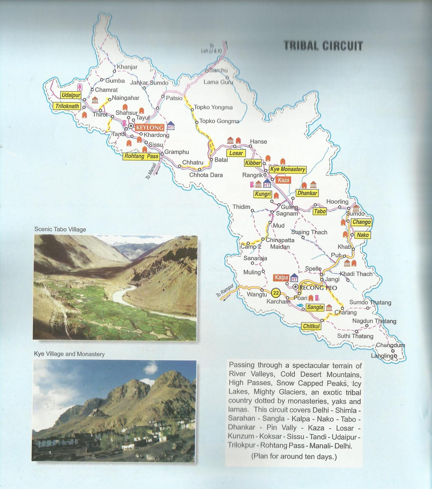 Manali India Map.Himachal Pradesh Tourist Maps Himachal Pradesh Travel Guide