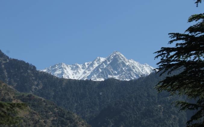 View of mountains from Mcleodganj